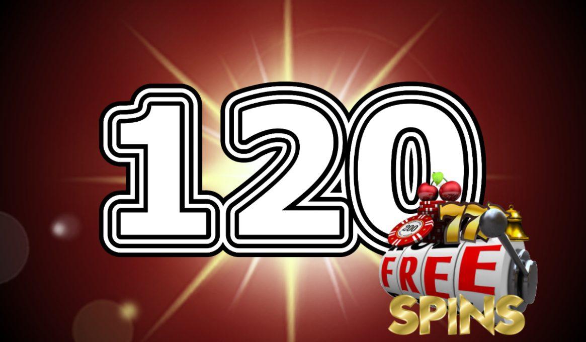120 Free Spins Slot Bonuses