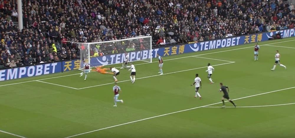 Hendrick gaol against Fulham