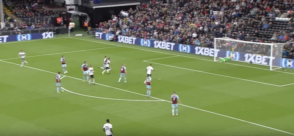 J Seri Stunning Strike against Burnley 4 minutes into the game