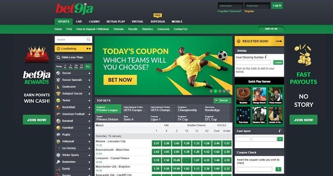 Bet9ja Sportsbook Reviews