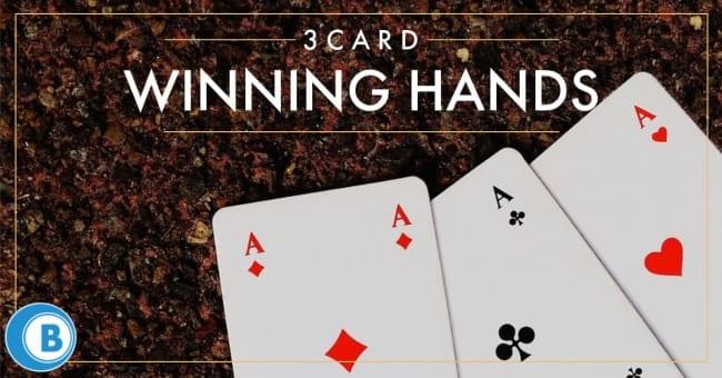 Three Card Winning Hands