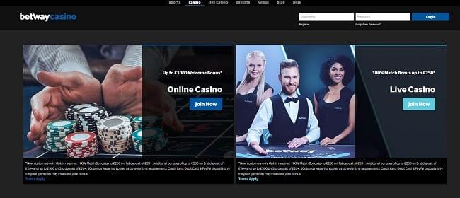 Betway Casino Reviews