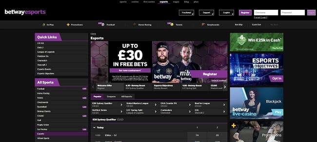 Betway E-Sports Reviews