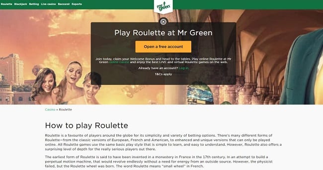 Mr Green Roulette Reviews