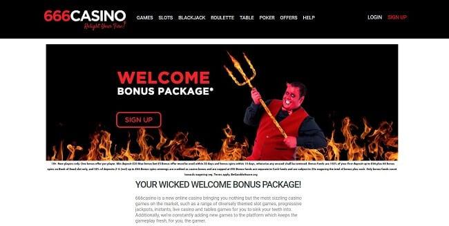 666 Casino Review – Get Up to £66 Bonus