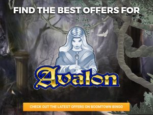 Background of a haunted forest. A ghost of a woman is seen above the logo for Avalon.