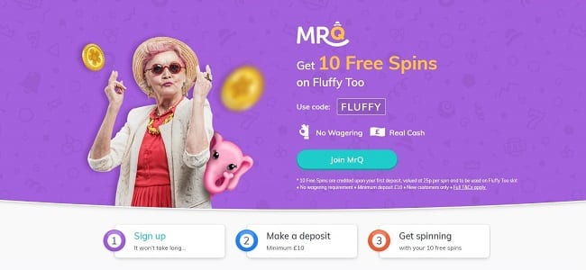 MrQ Bingo Review – Get Yourself 10 FREE Spins