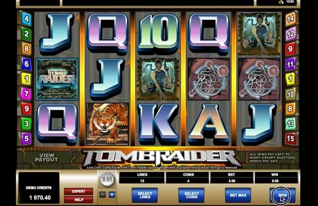 Tomb Raider Online Slot Machine