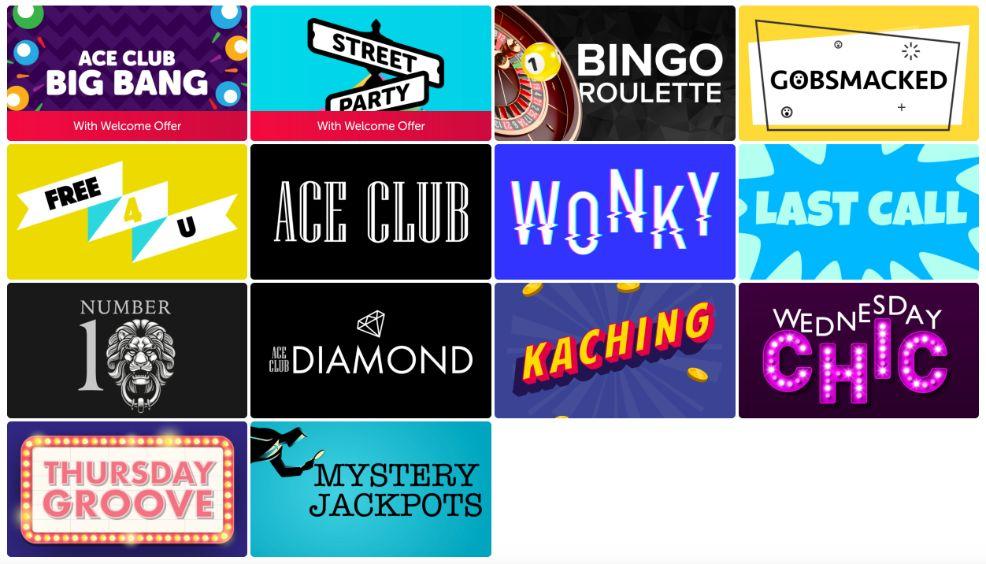 Bounce Bingo Bingo Rooms