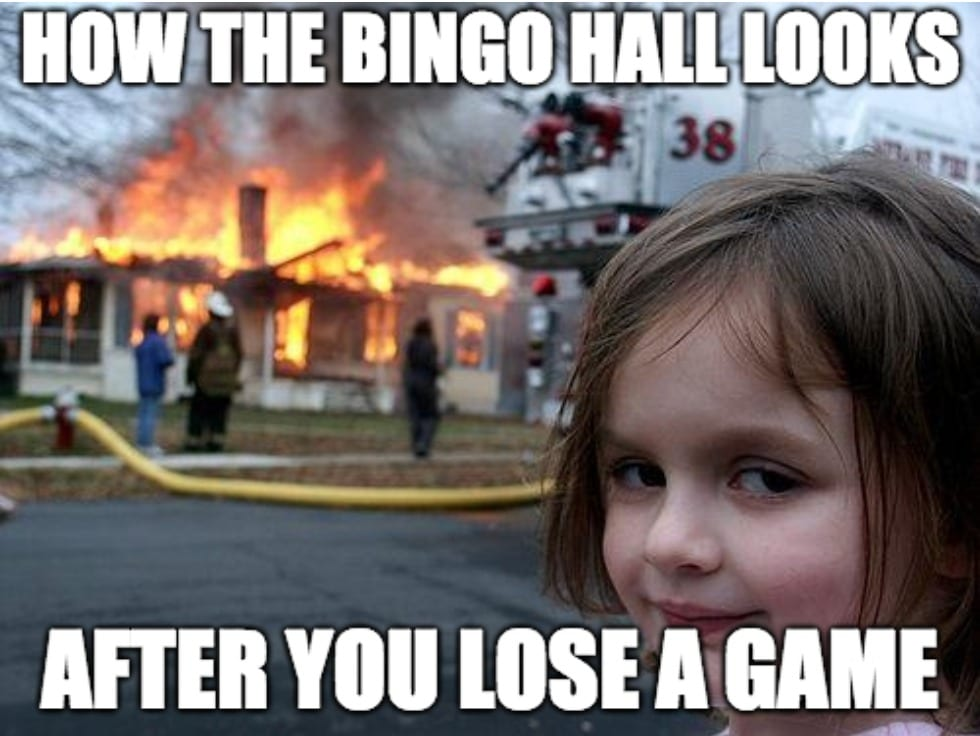 Losing at Bingo Hall