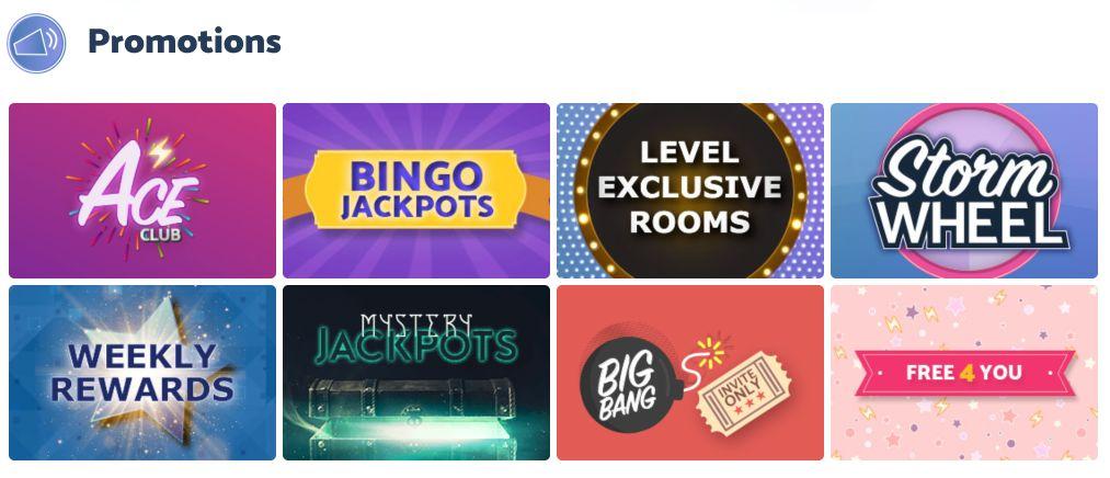 Bingo Storm New Promotions