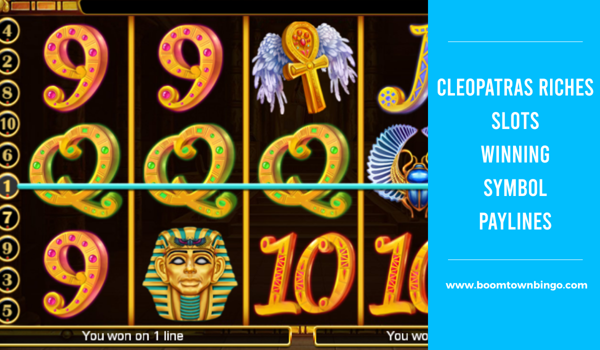 Cleopatras Riches Slots Symbol winning Paylines
