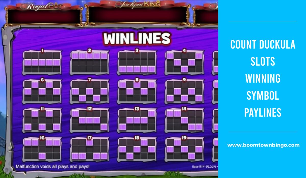 Count Duckula Slots Symbol winning Paylines