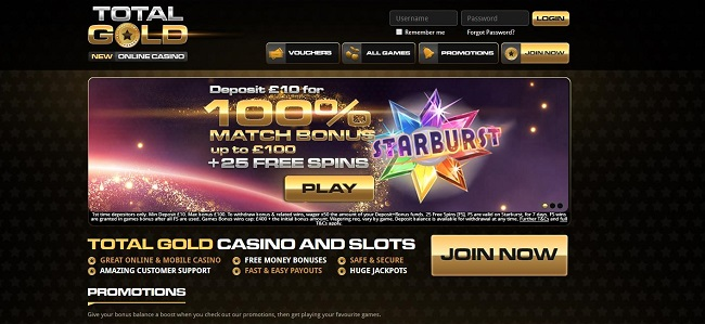 Total Gold Casino Review