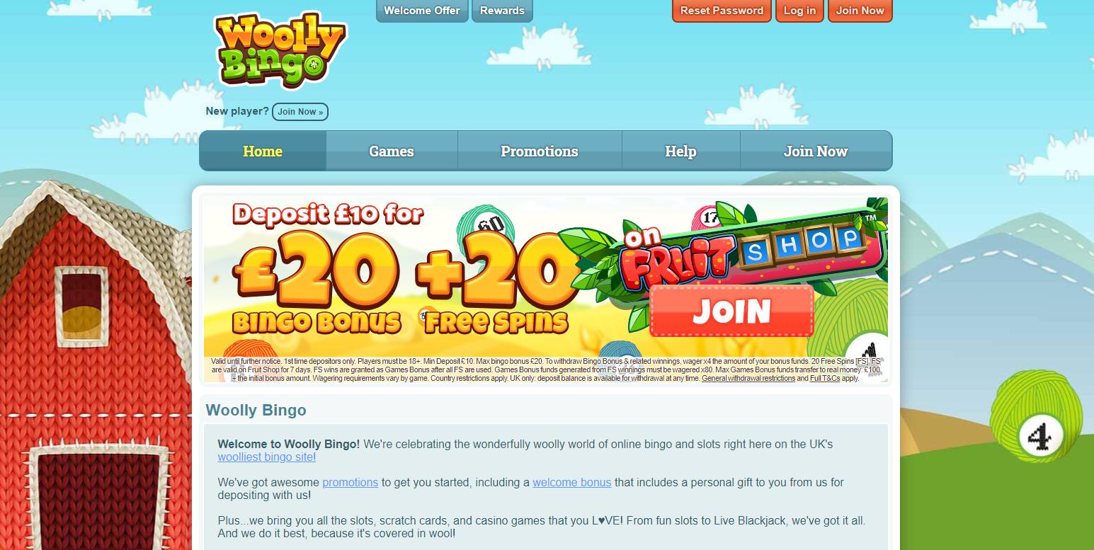 Woolly Bingo Website