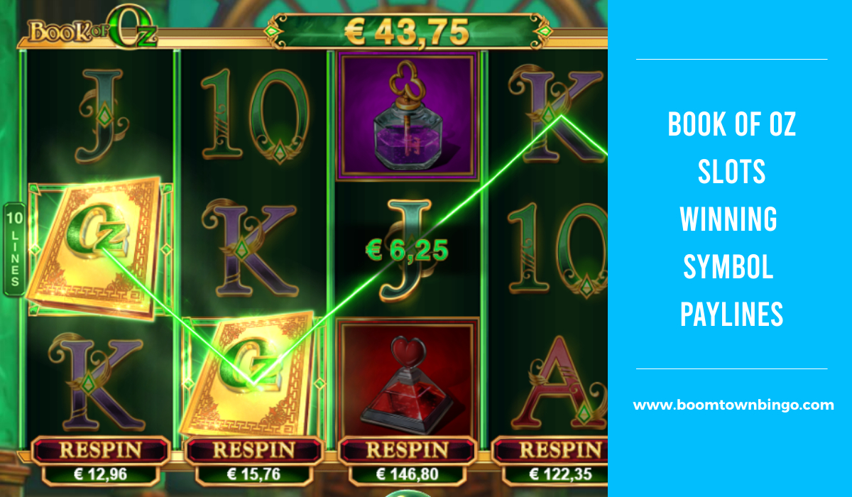 Book of Oz Slots Symbol winning Paylines