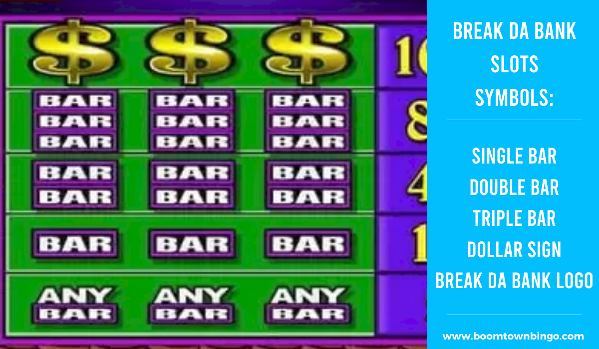 Break da Bank Slots machine Symbols