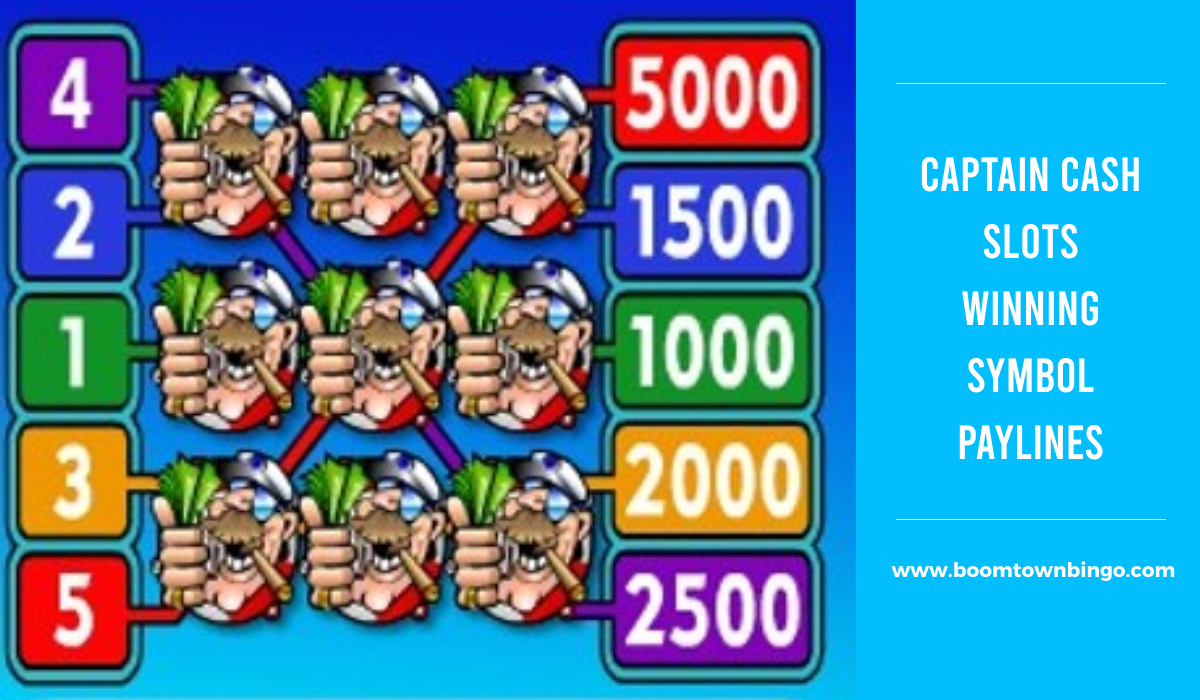 Captain Cash Slots Symbol winning Paylines