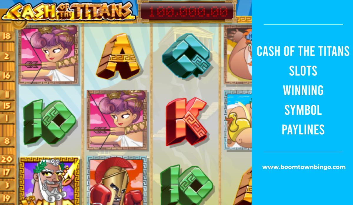 Cash of the Titans Slots Symbol winning Paylines