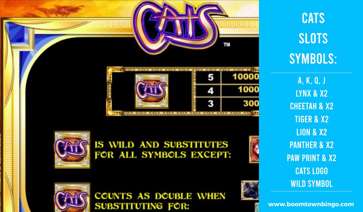 Cats Slots machine Symbols