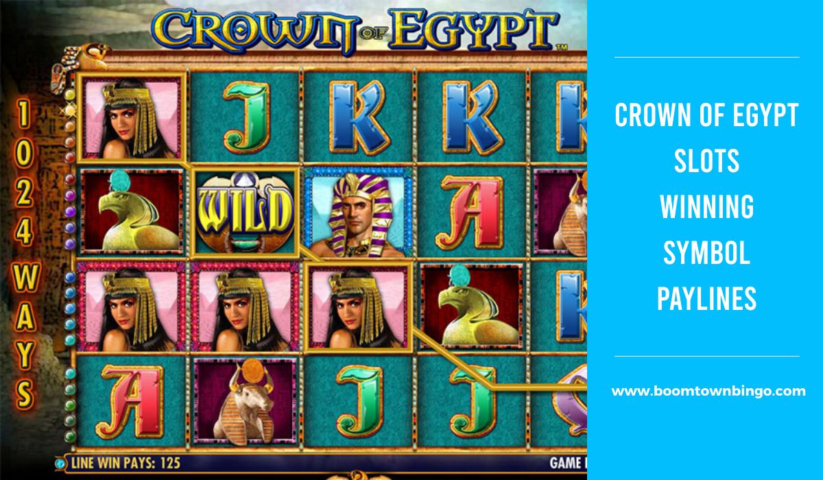 Crown Of Egypt Slots Symbol winning Paylines