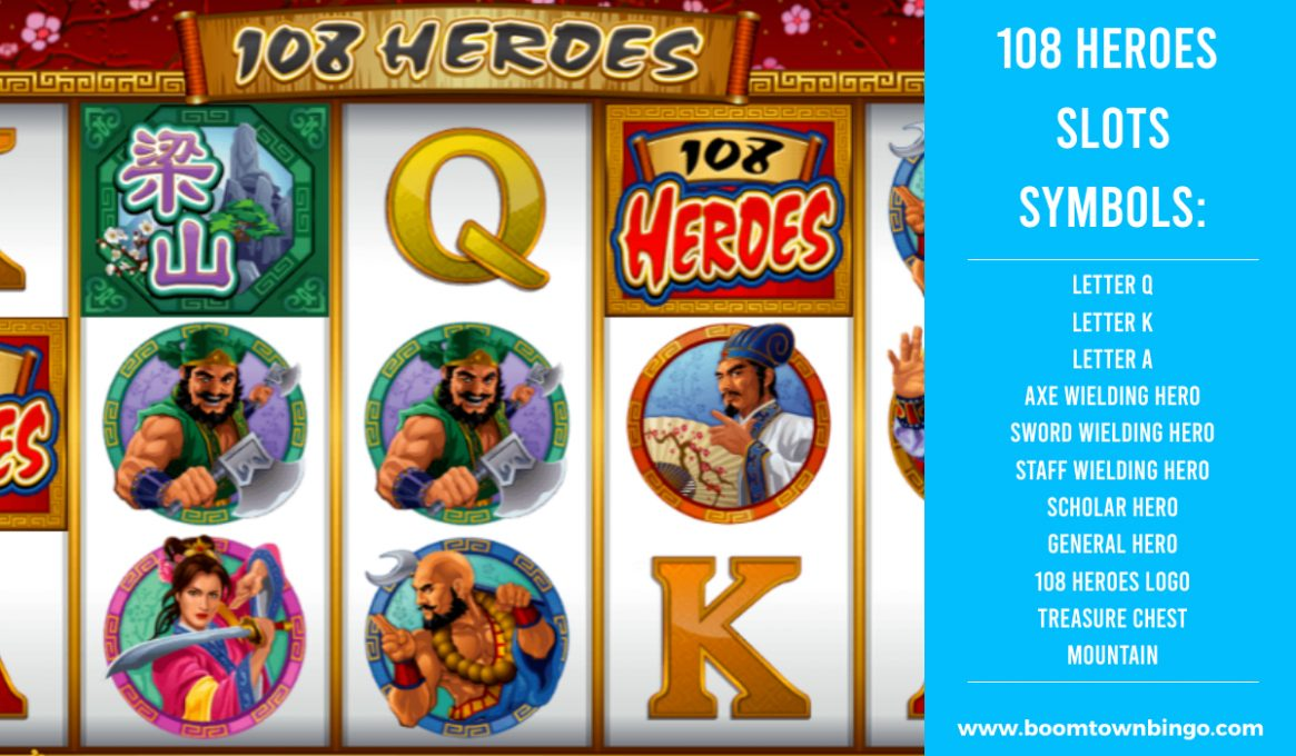 108 Heroes Slots Symbols