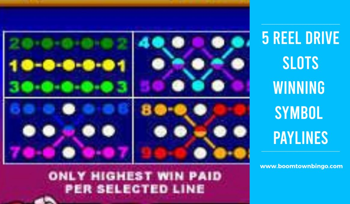 5 Reel Drive Slots Winning Paylines