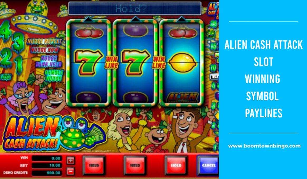 Alien Cash Attack Slot Paylines