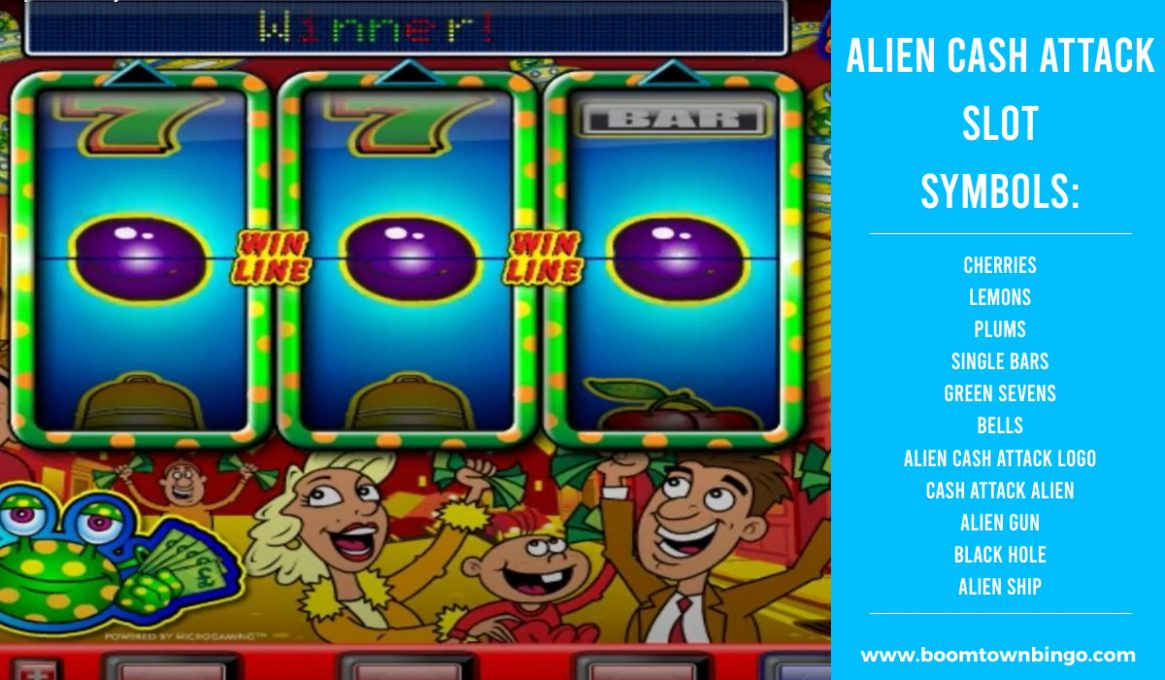Alien Cash Attack Slot machine Symbols