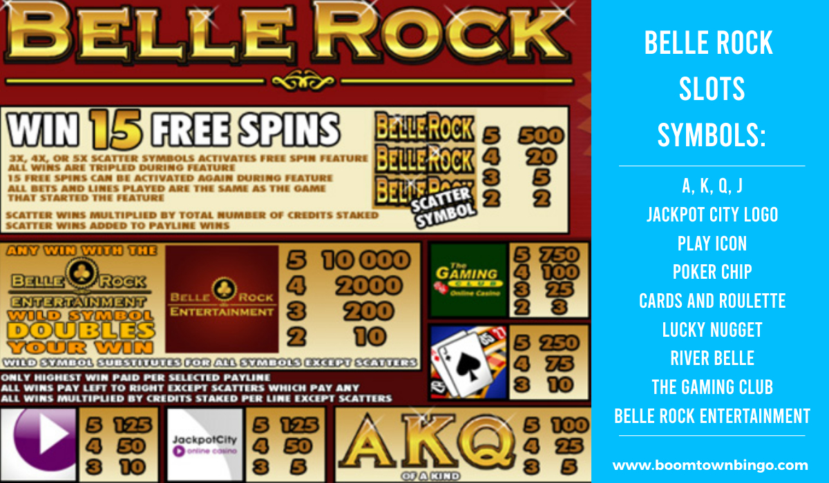 Belle Rock Slots machine Symbols