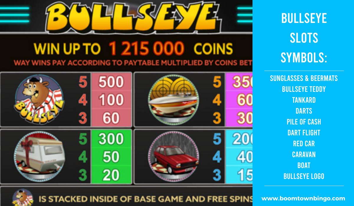 Bullseye Slots machine Symbols