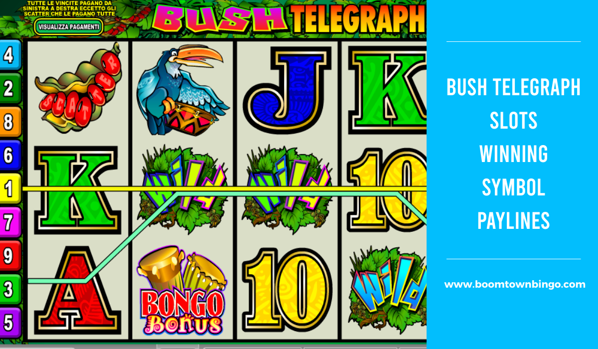 Bush Telegraph Slots Symbol winning Paylines