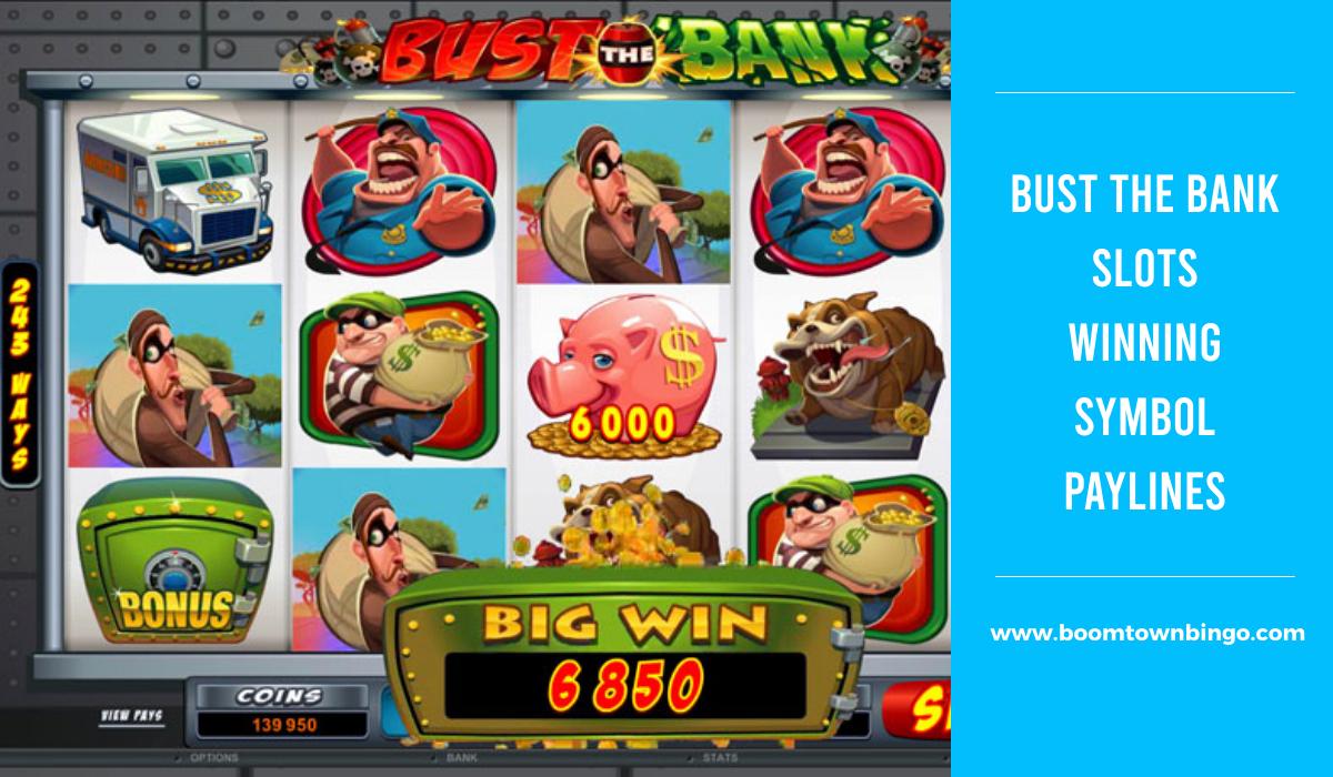 Bust the Bank Slots Symbol winning Paylines