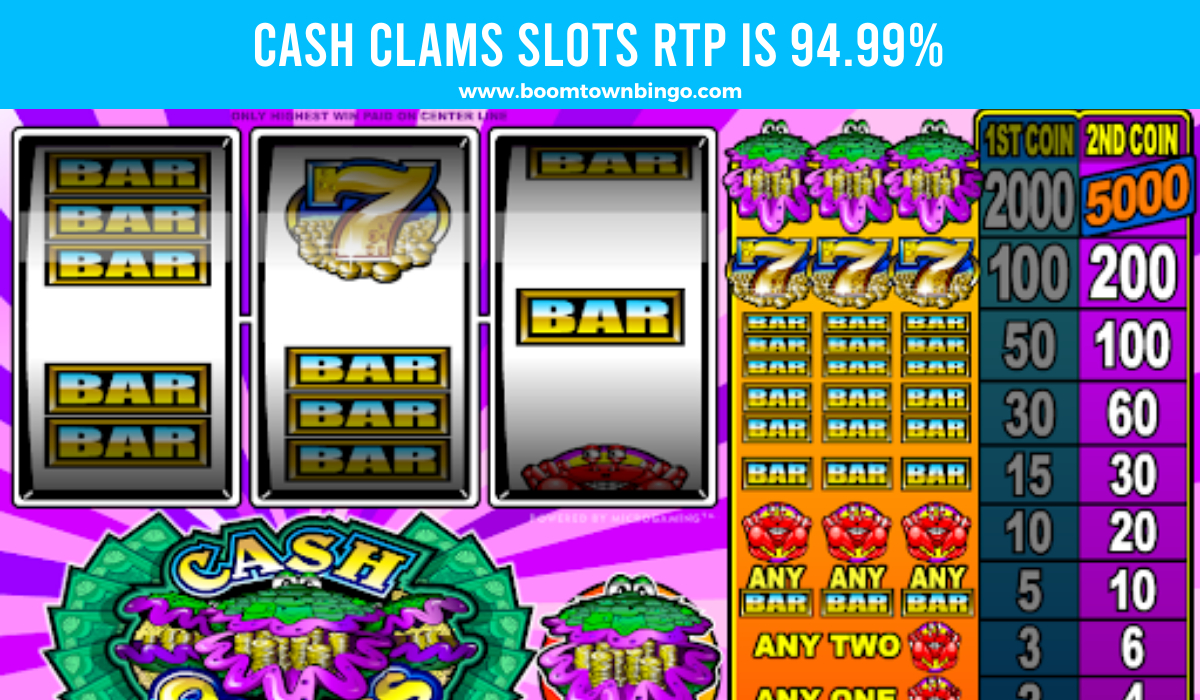 Cash Clams Slots Return to player