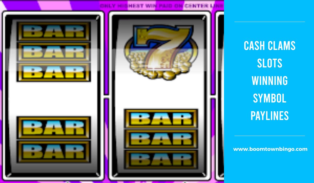Cash Clams Slots Symbol winning Paylines