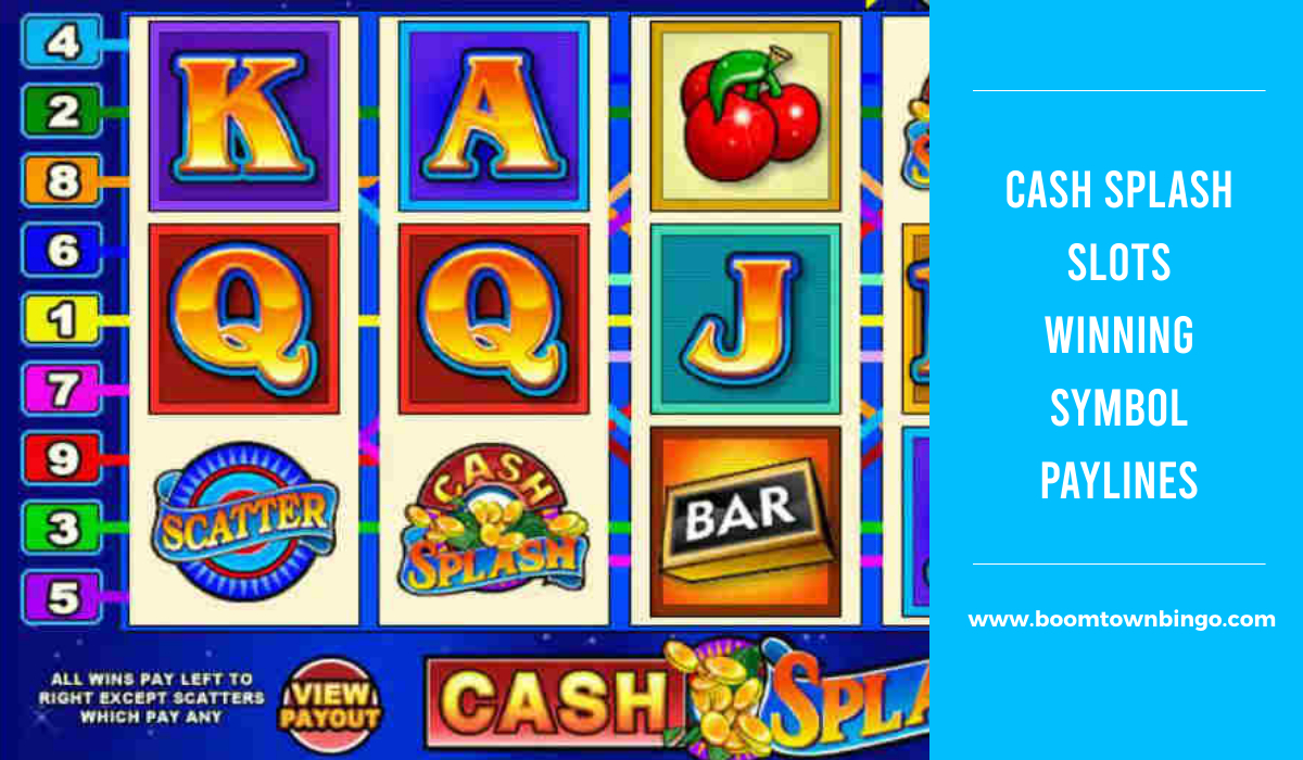 Cash Splash Slots Symbol winning Paylines
