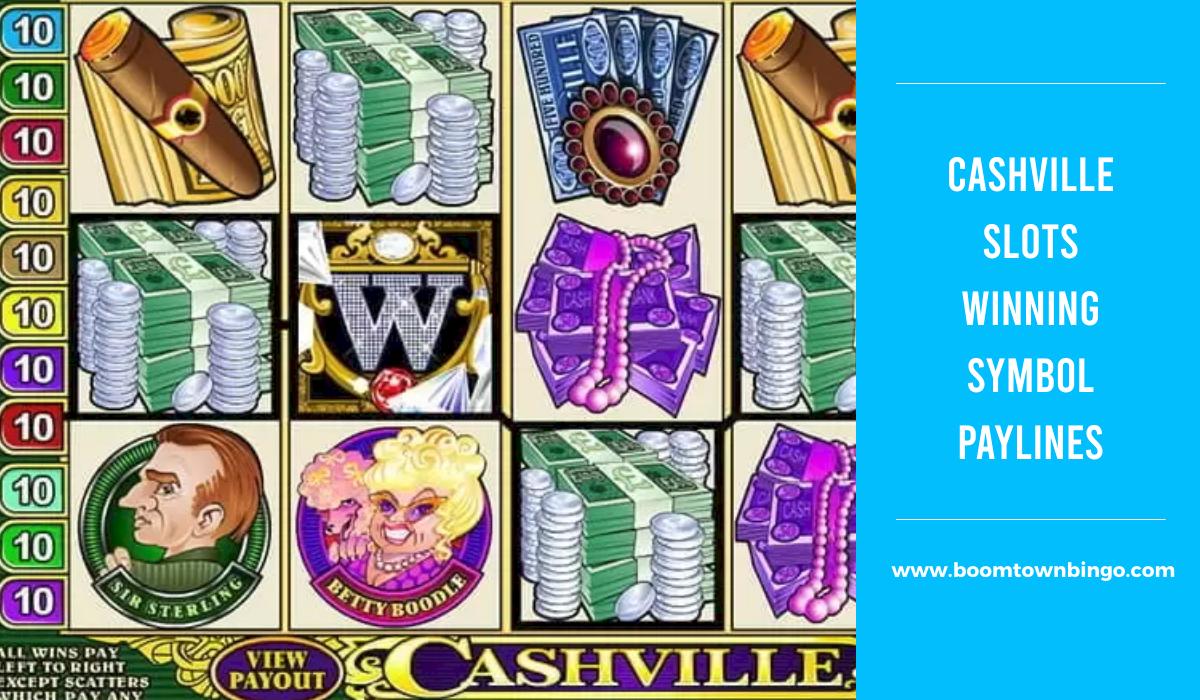 Cashville Slots Symbol winning Paylines