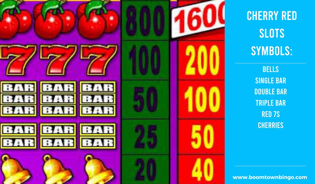 Cherry Red Slots machine Symbols
