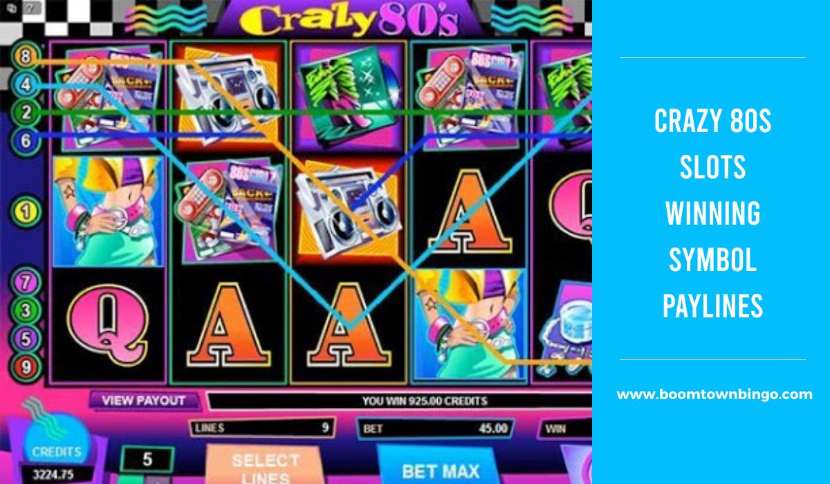 Crazy 80s Slots Symbol winning Paylines