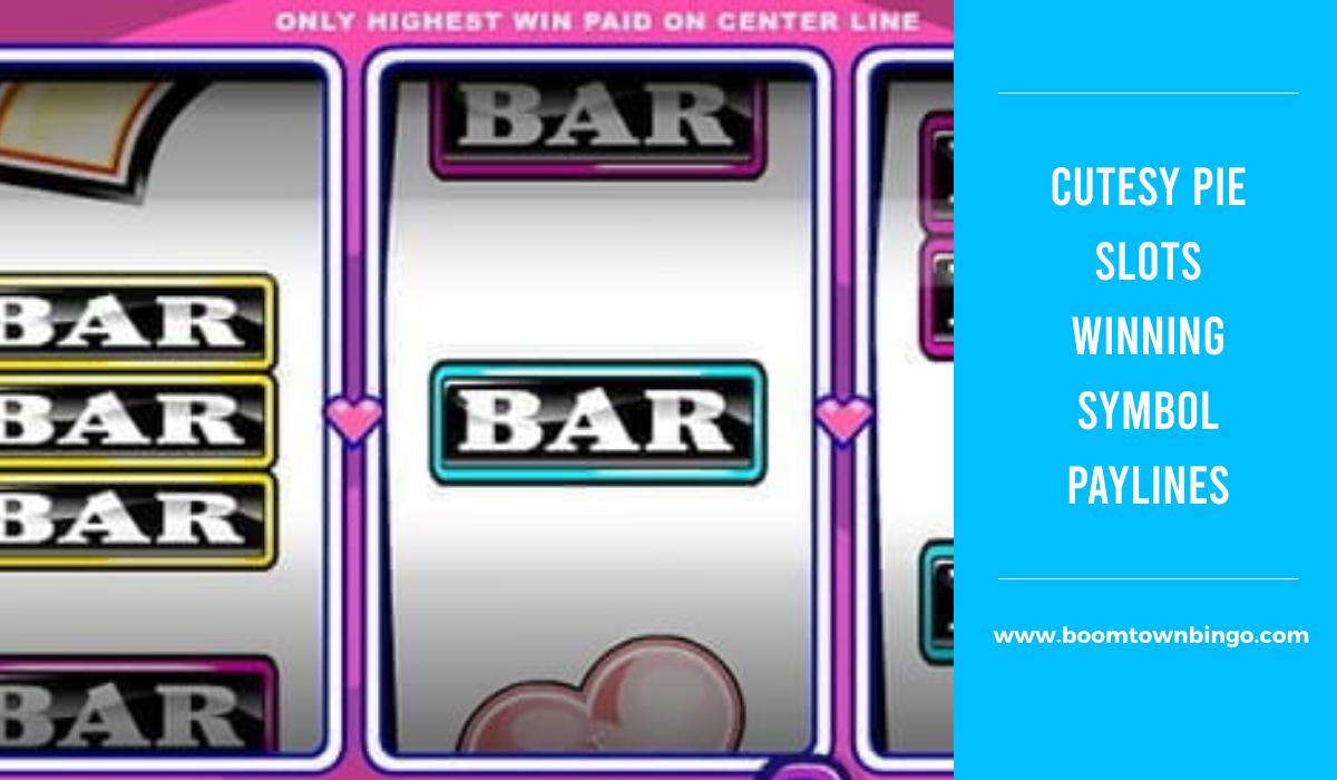 Cutesy Pie Slots Symbol winning Paylines