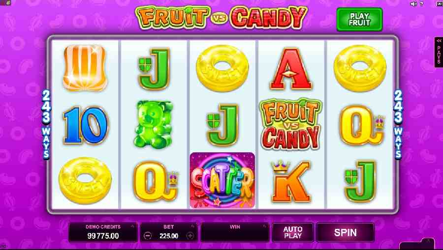 Fruit vs Candy Slot Gameplay