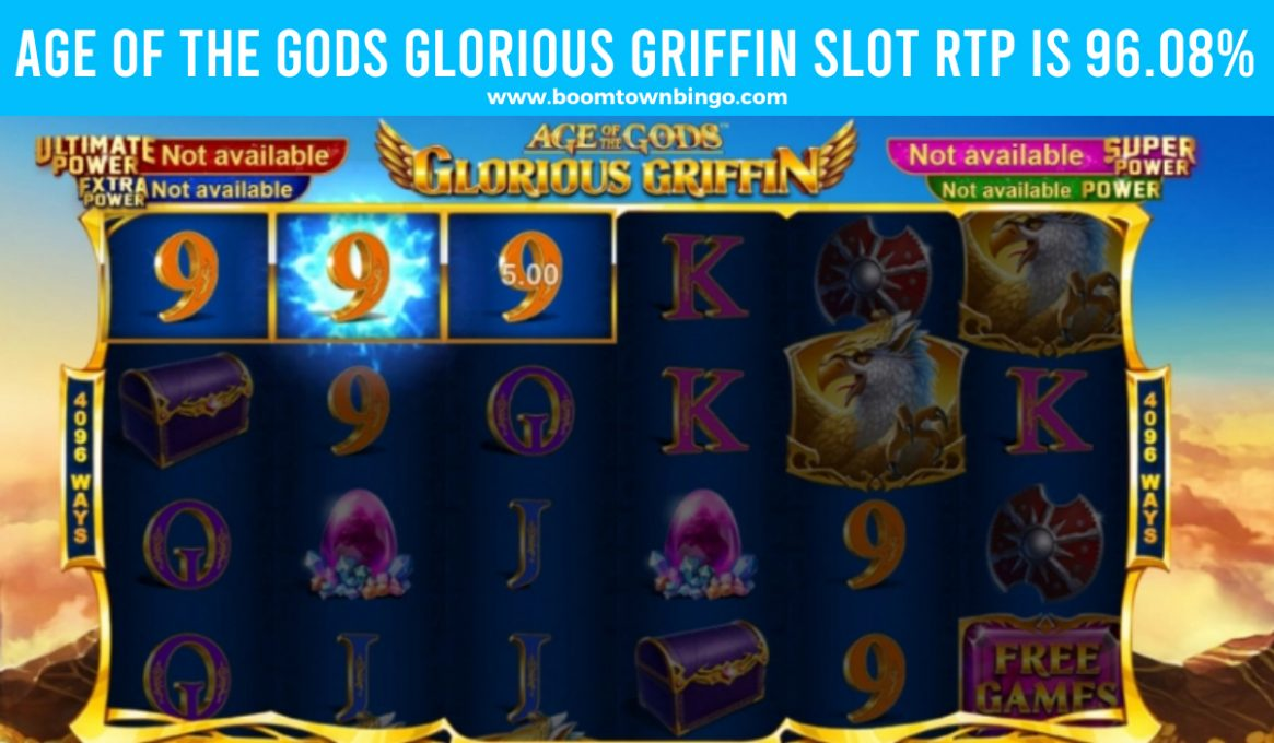 Age of the Gods Glorious Griffin Slot Return to player
