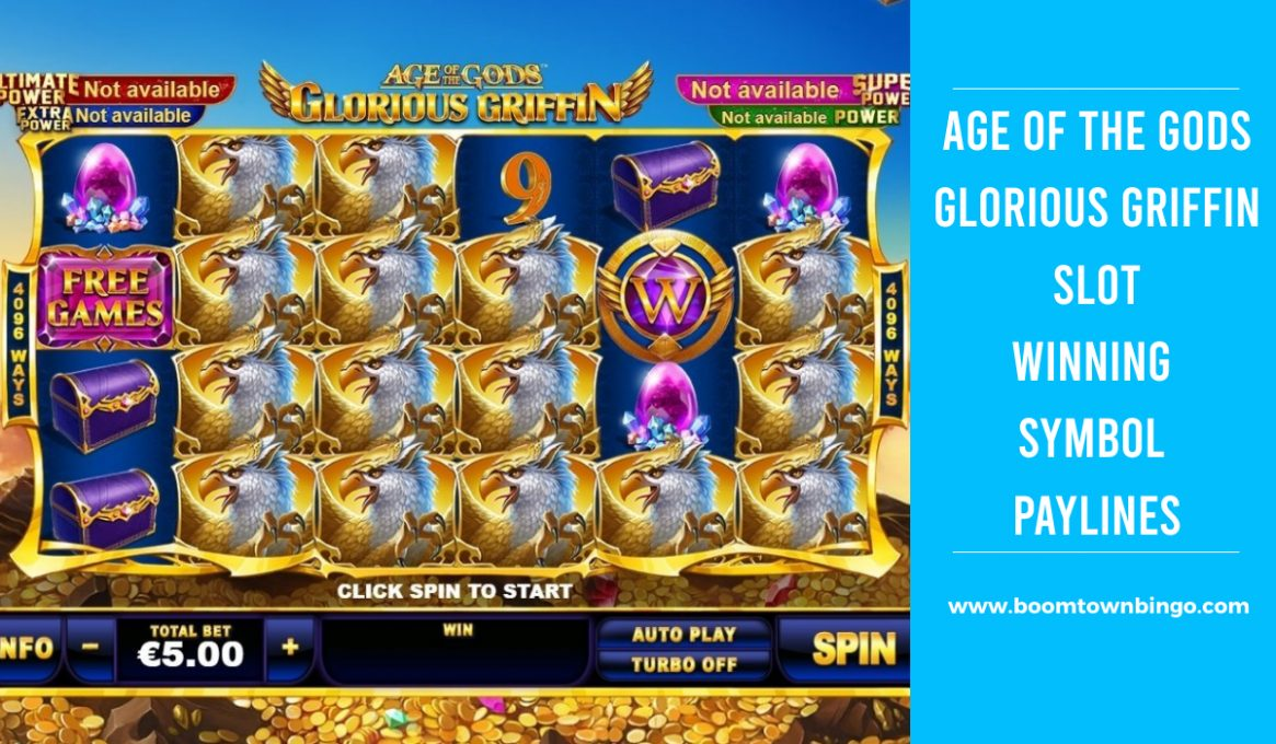 Age of the Gods Glorious Griffin Slot Paylines