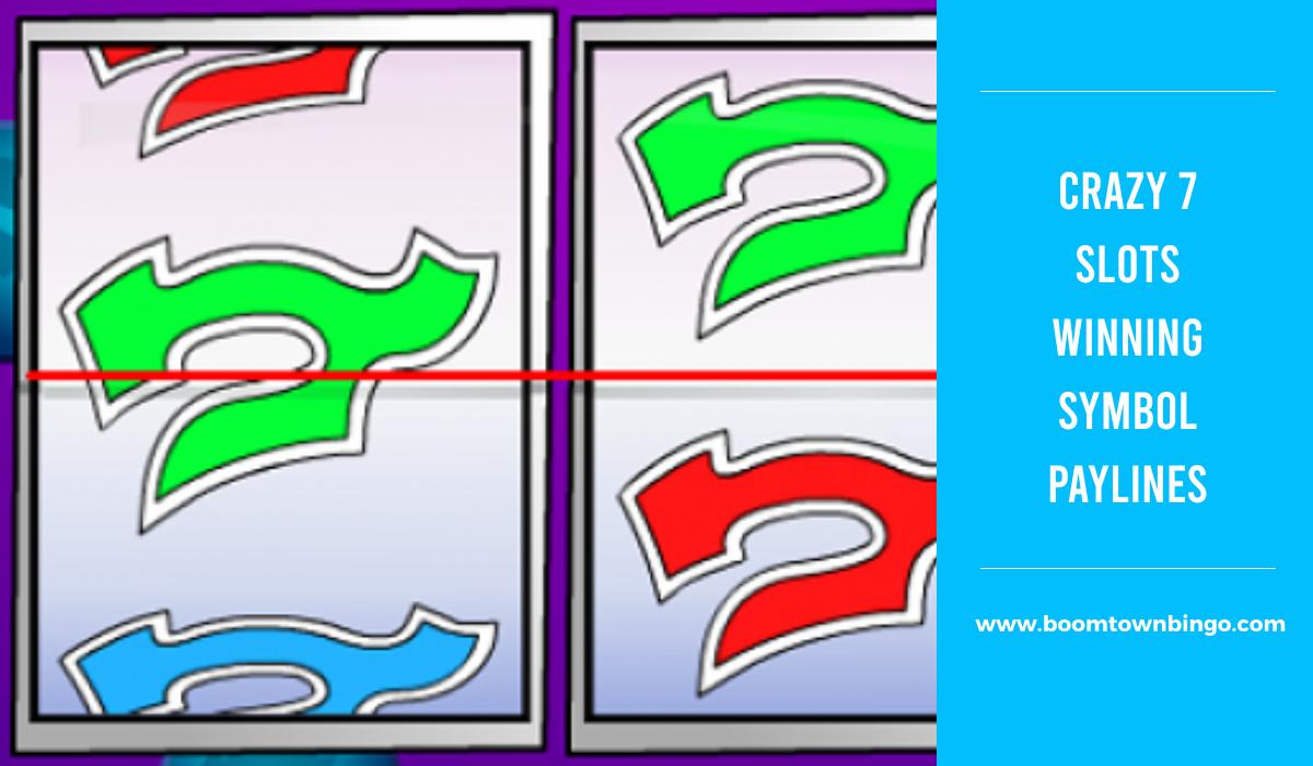 Crazy 7 Slots Symbol winning Paylines