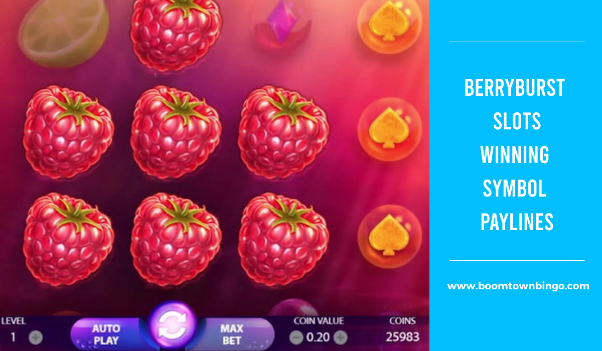 BerryBurst Slots Symbol winning Paylines