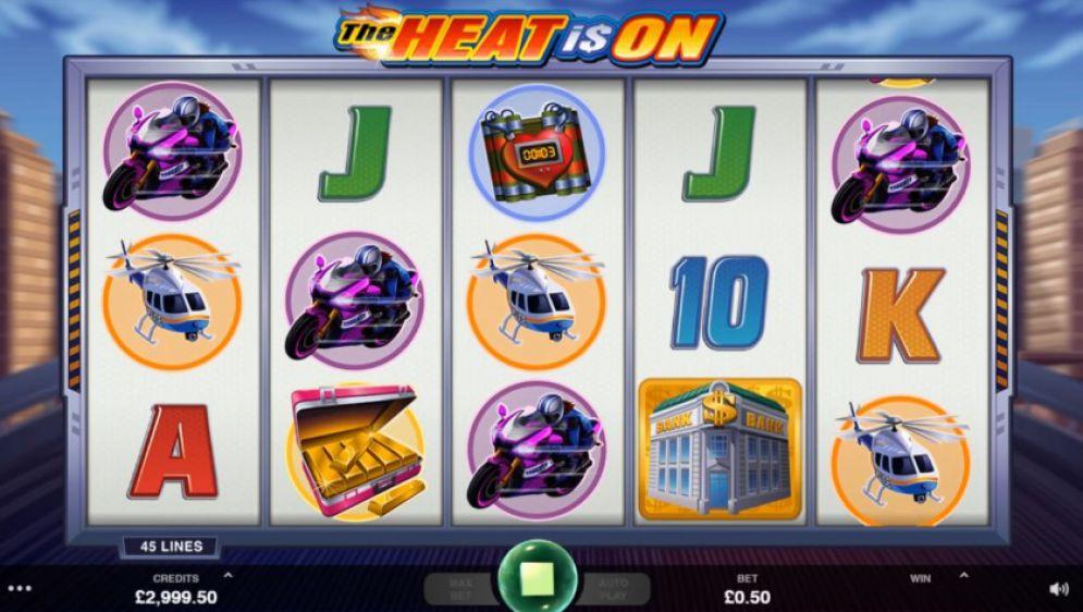 The Heat is On Slots reels