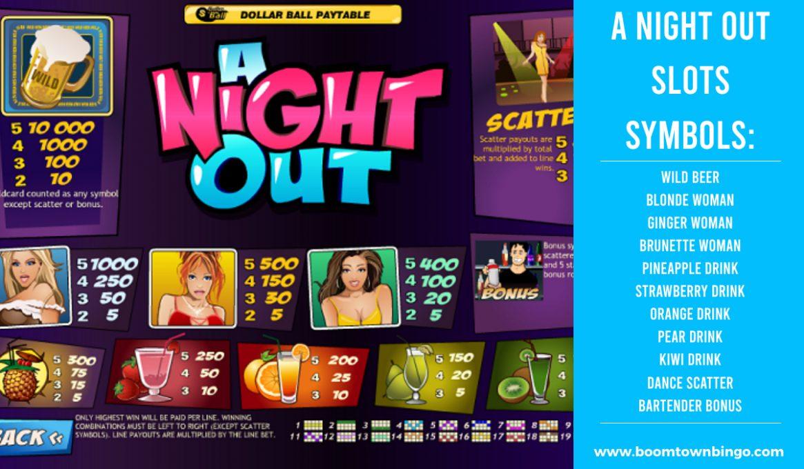 A Night Out Slot machine Symbols
