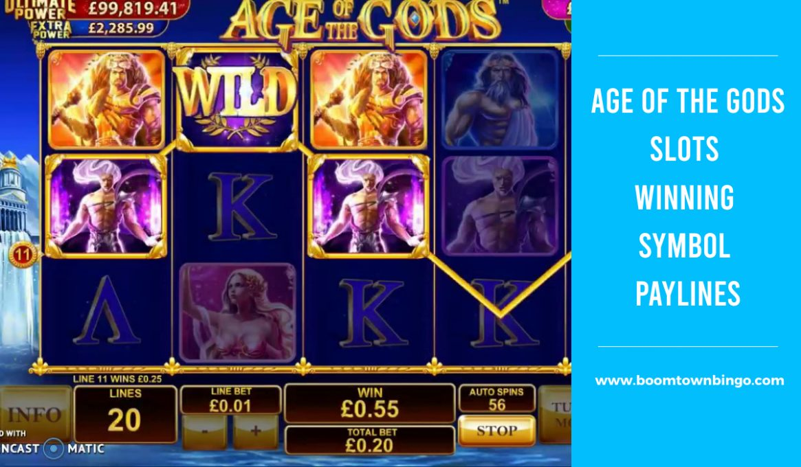 Age of the Gods Slots Paylines