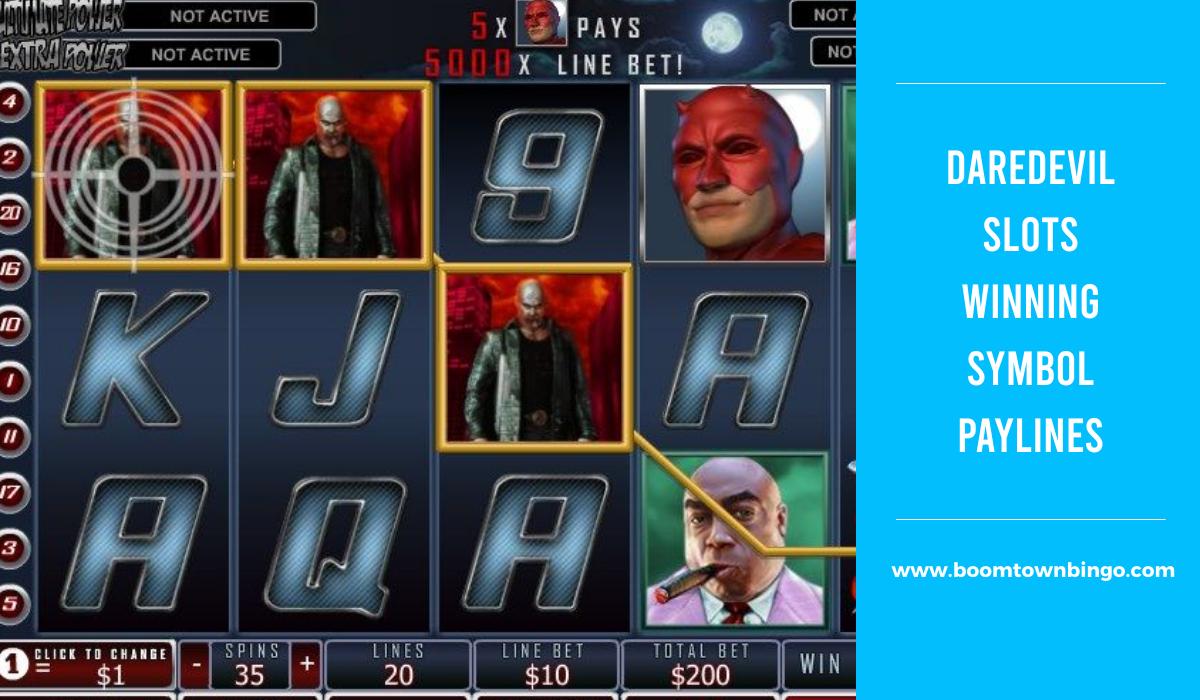 Daredevil Slots Symbol Winning Paylines
