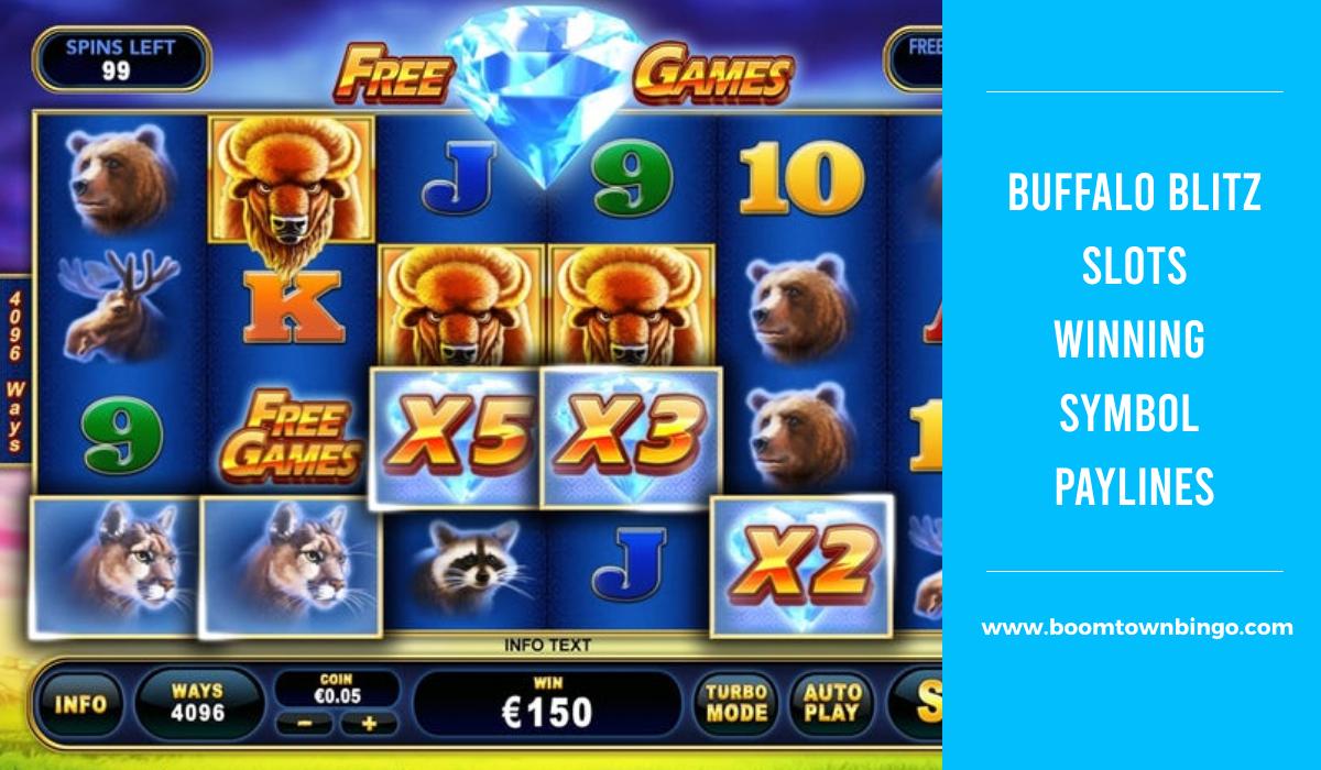 Buffalo Blitz Slots Symbol winning Paylines